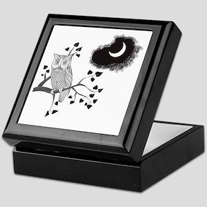 Owl in Moonlight Keepsake Box