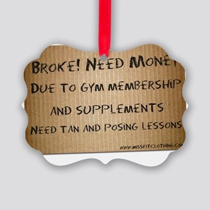 broke-need-money Picture Ornament