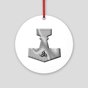 Steel Hammer Ornament (Round)