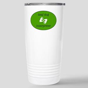 DeafDogIntepreterLogo Stainless Steel Travel Mug