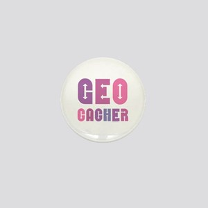 Geocacher Arrows Pink Mini Button