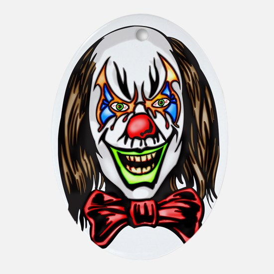 evil_clowns_018 Oval Ornament