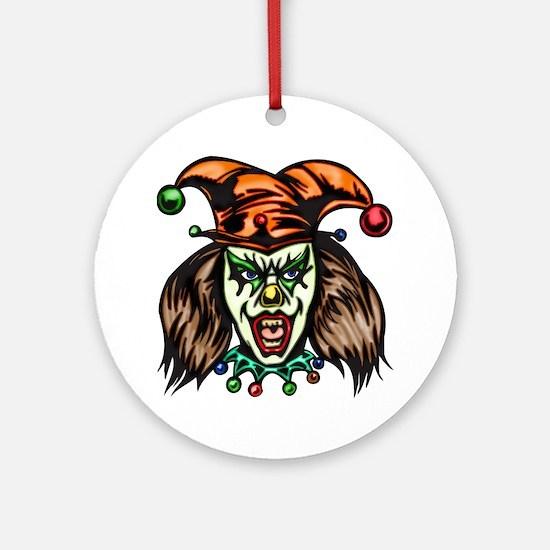 evil_clowns_033 Round Ornament