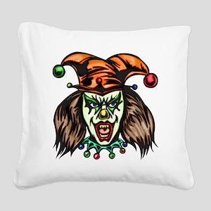evil_clowns_033 Square Canvas Pillow