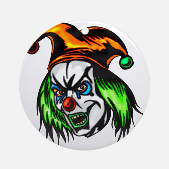 evil_clowns_043 Round Ornament