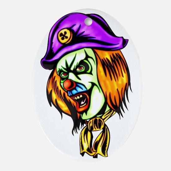 evil_clowns_050 Oval Ornament