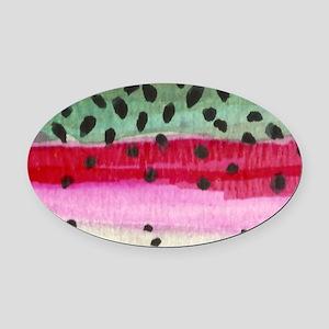 skin_mouse Oval Car Magnet