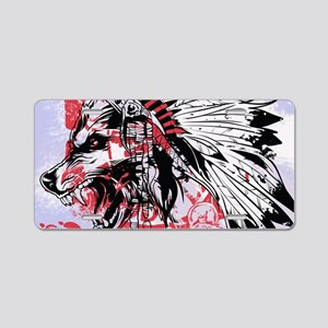 lone wolf Aluminum License Plate