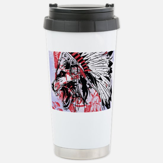 lone wolf Stainless Steel Travel Mug