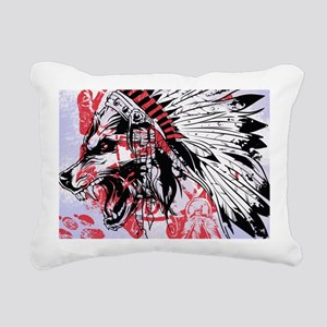lone wolf Rectangular Canvas Pillow