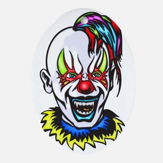 evil_clowns_007 Oval Ornament