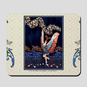 Laptop-ArtDecoButterfly-Lady-Dancer Mousepad