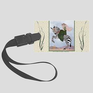 Laptop-ArtDecoMarty-Zebra Large Luggage Tag