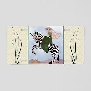 Laptop-ArtDecoMarty-Zebra Aluminum License Plate