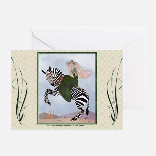 Laptop-ArtDecoMarty-Zebra Greeting Card