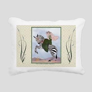 Laptop-ArtDecoMarty-Zebr Rectangular Canvas Pillow