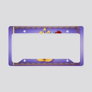 Wall Peel Hamsa and Flowers License Plate Holder