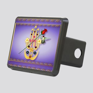 Wall Peel Hamsa and Flower Rectangular Hitch Cover