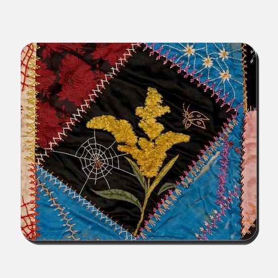 crazy quilt square Mousepad