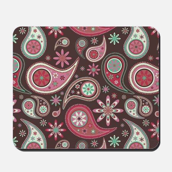 red paisley Mousepad