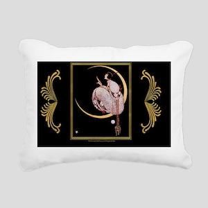 Laptop-G.Plank-LadyInMoo Rectangular Canvas Pillow