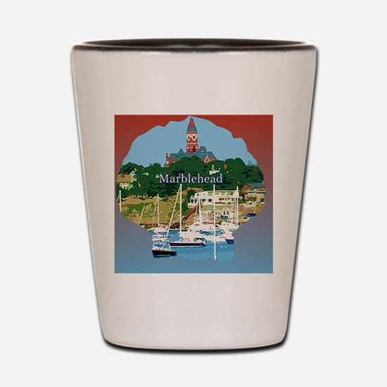 marblehead-stonewashed-hat Shot Glass