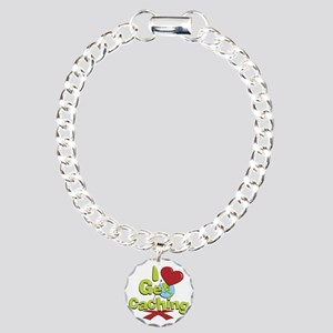geocaching BUTTON Charm Bracelet, One Charm