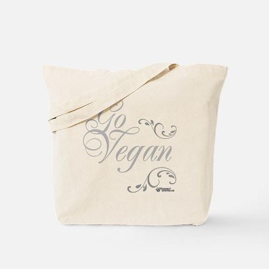 go-vegan-white-01 Tote Bag