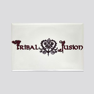 Tribal Fusion Logo Rectangle Magnet