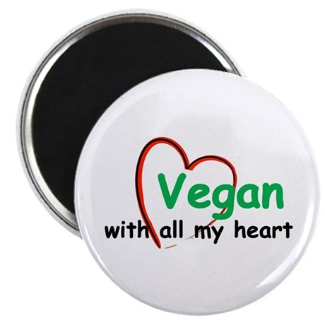 Vegan with all my Heart Magnet