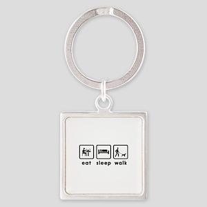 Field Spaniel Square Keychain