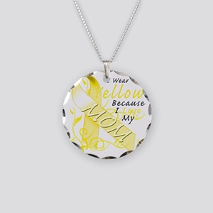 I Wear Yellow Because I Love Necklace Circle Charm