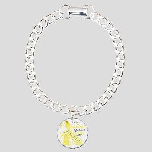 I Wear Yellow Because I  Charm Bracelet, One Charm