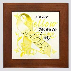I Wear Yellow Because I Love My Mom Framed Tile