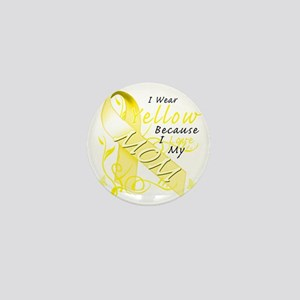 I Wear Yellow Because I Love My Mom Mini Button