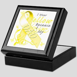 I Wear Yellow Because I Love My Dad Keepsake Box