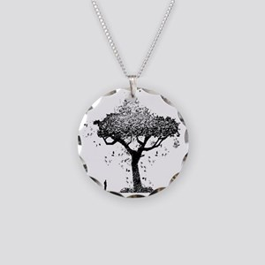 Tree Of Ash Necklace Circle Charm