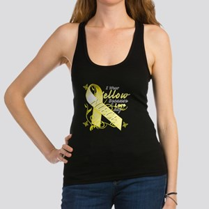 I Wear Yellow Because I Love My Racerback Tank Top