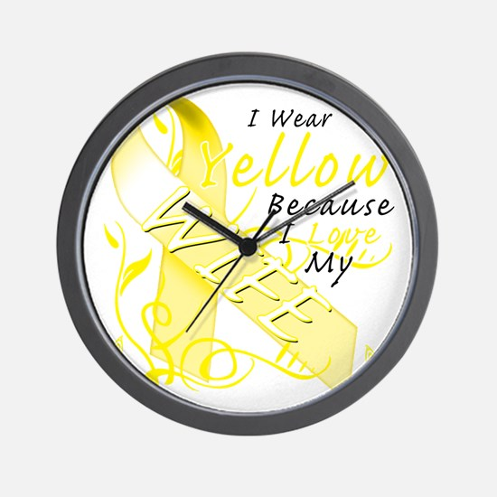 I Wear Yellow Because I Love My Wife Wall Clock