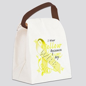 I Wear Yellow Because I Love My W Canvas Lunch Bag