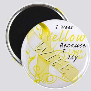 I Wear Yellow Because I Love My Wife Magnet