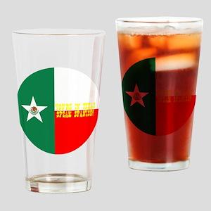 texico flag button Drinking Glass