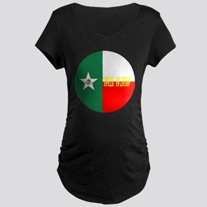 texico flag button Maternity Dark T-Shirt