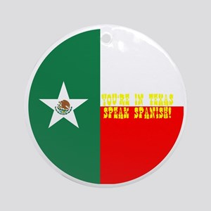 texico flag button Round Ornament