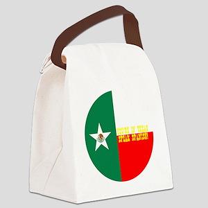 texico flag button Canvas Lunch Bag