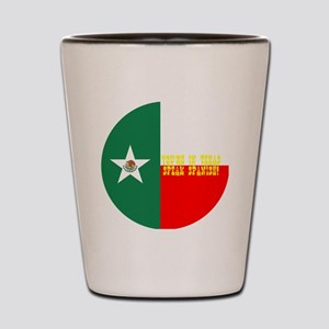 texico flag button Shot Glass
