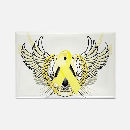 Awareness Tribal Yellow copy Rectangle Magnet