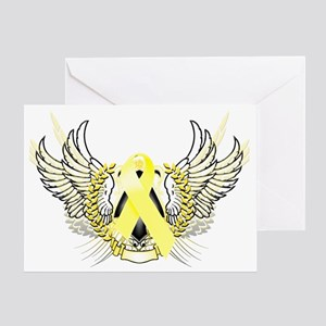 Awareness Tribal Yellow copy Greeting Card