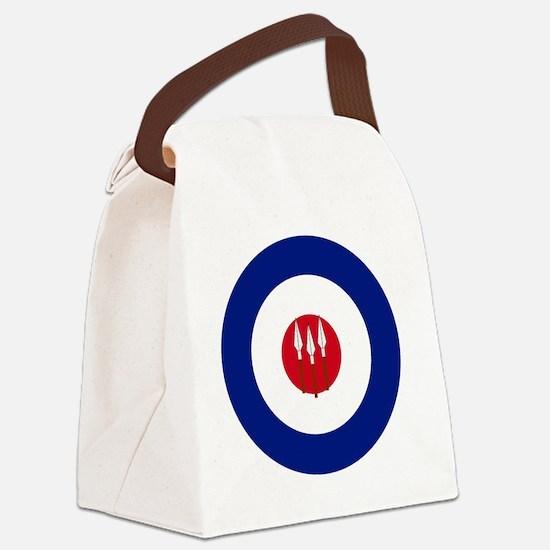 5x5-RRAF_roundel Canvas Lunch Bag