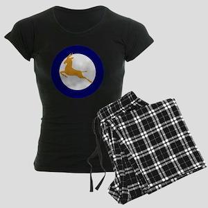 7x7-Roundel_of_the_SAAF_1947 Women's Dark Pajamas